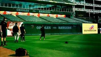 Texas had scored at least 10 runs three times against the O's this season.