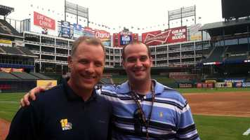 WBAL-TV 11 Sports anchor Pete Gilbert and photographer Sean Smith report live from Texas.