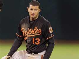 Third baseman Manny Machado