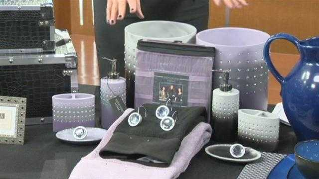 Infuse glitter and glam in your bathroom with Sears Kardashion line accessories.