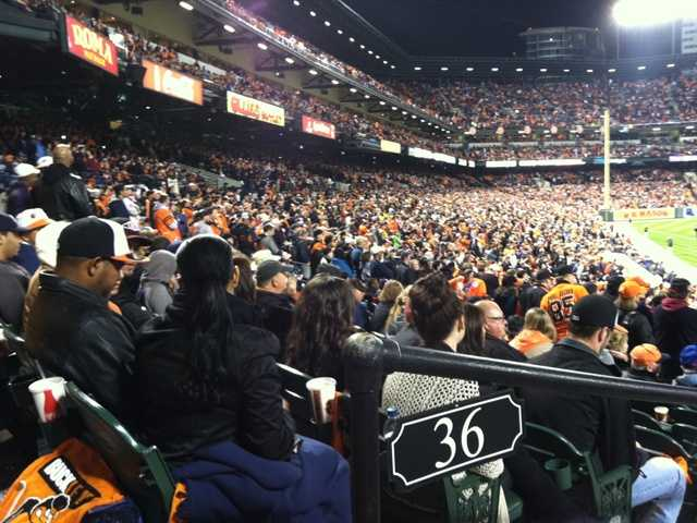 Fans fill The Yard late into the evening.