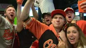 O's fans go wild during Game 1 of the ALDS.