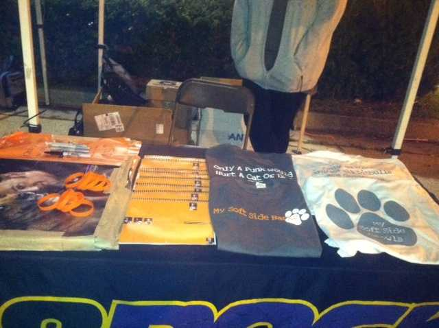 The event had campaign shirts on hand that help benefit the Show Your Soft Side campaign.