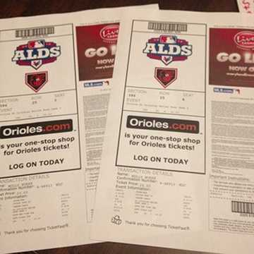 Those lucky enough to get tickets to the home ALDS games are proudly showing their prized possessions online.