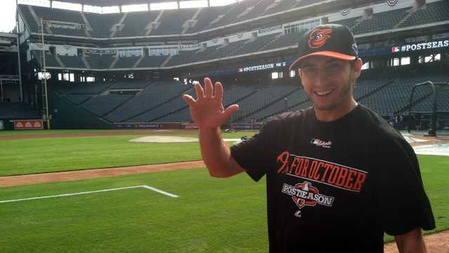 Miguel Gonzalez before the Wild Card game in Texas
