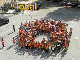 The Tunbridge Public Charter School shows its support for the O's.