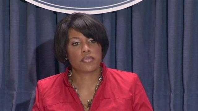 There were some tough words from Baltimore Mayor Stephanie Rawlings-Blake over the running of the city school system.
