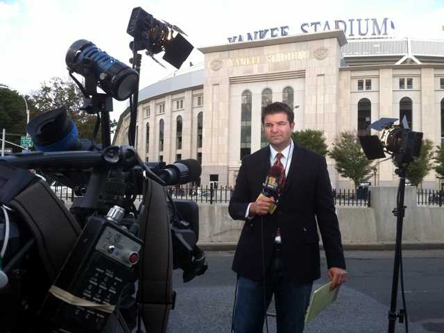 WBAL-TV 11 News reporter Lowell Melser joins Pete Gilbert, reporting LIVE from Yankee Stadium.