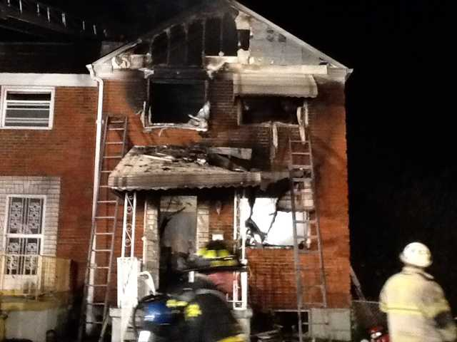 Baltimore firefighters are called to a fatal fire on Denwood Avenue in northeast Baltimore.