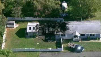 Firefighters in Harford County had to battle a blaze in Edgewood that sent one person to a hospital Thursday morning.