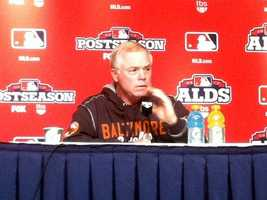 Buck speaks with the media ahead of Game 4.