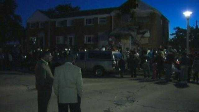 Dozens turned out Thursday night to mourn and pray for those who were lost.