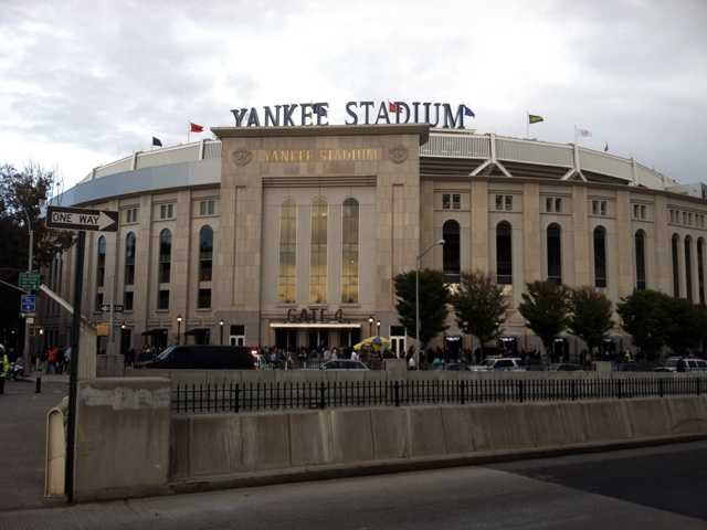 Sabathia pitched a four-hitter, wriggling out of a bases-loaded jam in the eighth inning at Yankee Stadium.