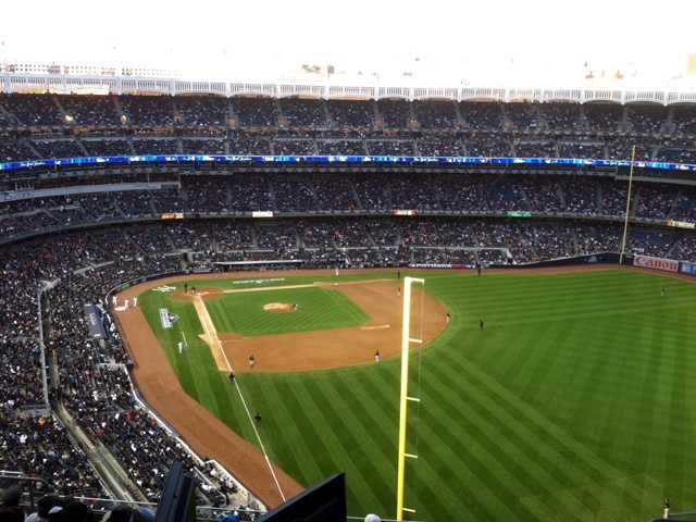 The crowd of 47,081 was the smallest for a postseason game at new Yankee Stadium, which opened in 2009.