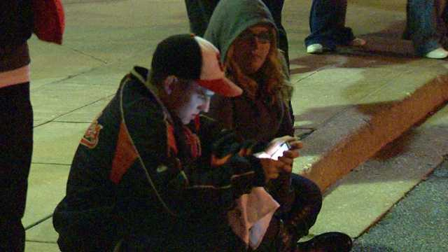 Fans camp out Friday evening to welcome their baseball heroes home to Baltimore.