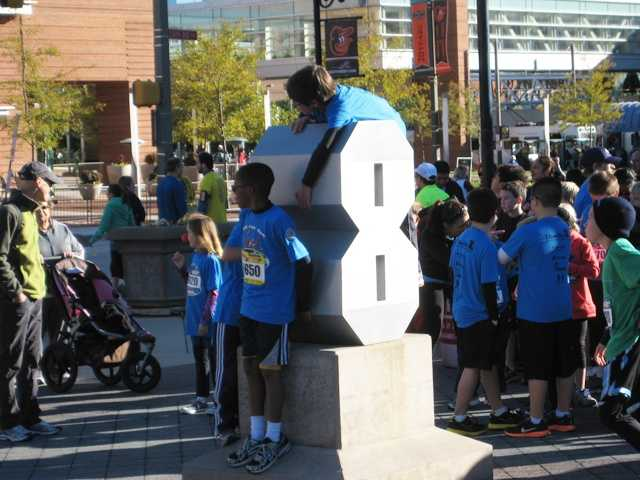 Perhaps the most fun race of the Baltimore Running Festival includes the young runners who participate in the Kids Fun Run.