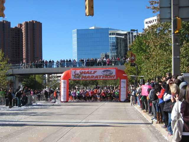 WBALTV.com takes you to the start of the 12th annual Baltimore Half-Marathon. See if you can find yourself or a runner you know!