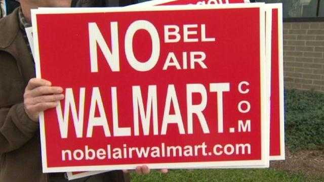 There is a fight over a new Walmart store in Bel Air.