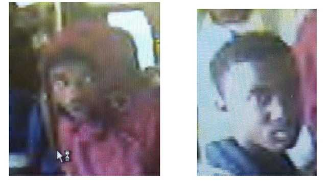 These surveillance photos are connected to an investigation into an assault aboard an MTA Maryland bus in Baltimore. If you have any information, call MTA police at 410-454-1659, or call the MTA police 24-hour number at 410-454-7720.