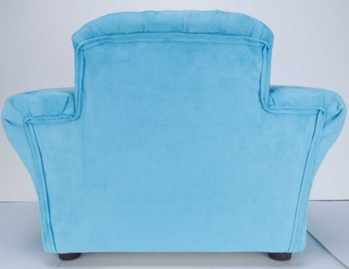 The recalled children's upholstered toddler chairs in Club style and Mod style are 24 inches wide by 18 inches tall by 17 inches deep.