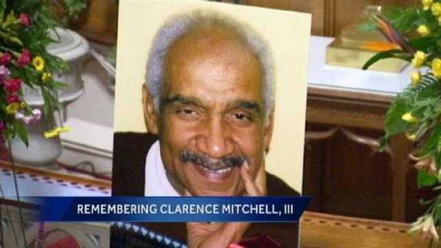 Hundreds turned out Sunday afternoon to say their final goodbyes to Maryland senator and civil rights leader Clarence Mitchell III.