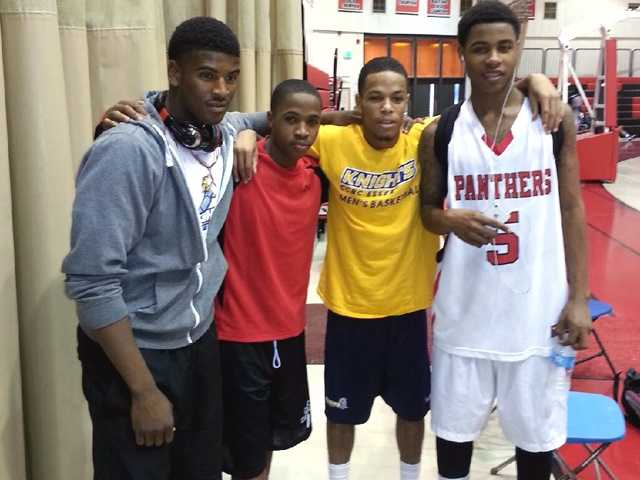 (From left to right) Bobby Mack, Leon Fleming, Jesse Barr, and Antoine Montgomery.
