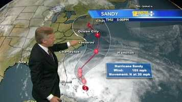 Tom Tasselmyer explains how the weather patterns could determine whether Maryland greets Hurricane Sandy.