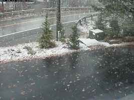 ulocal user Pinzz said it started snowing in Deep Creek around 2:45 p.m.