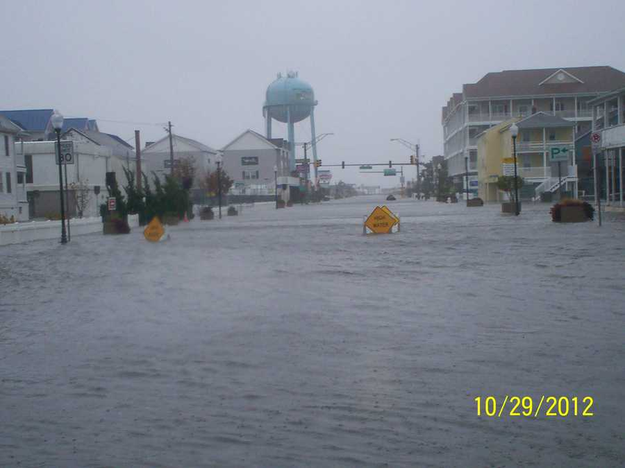Talbot Street in Ocean City looking down Philadelphia Avenue. Click here to see more pictures from Ocean City and throughout Maryland from Sandy.