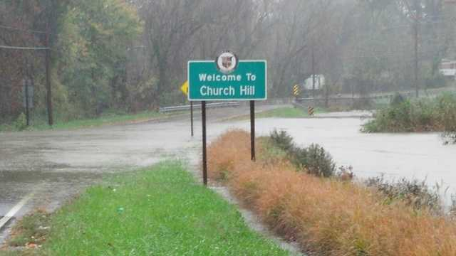 Flooding in Church Hill, Queen Anne's County