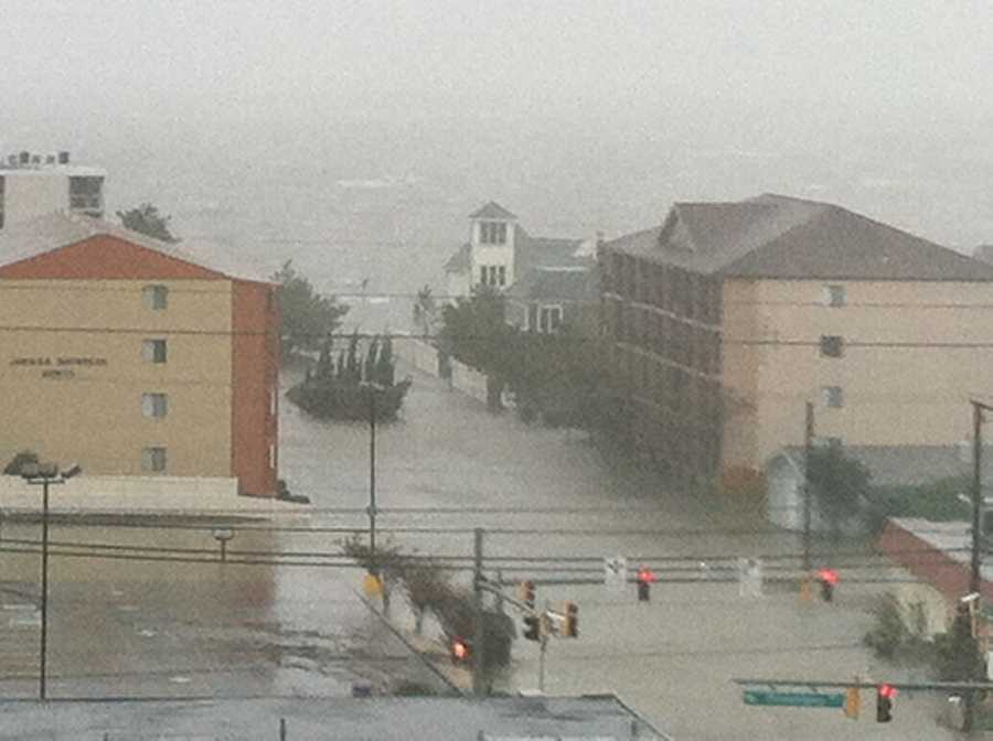 Ocean City bayside flooding at 32nd Street