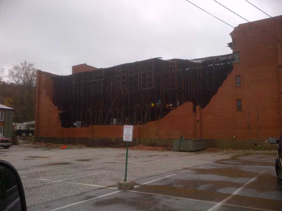 A building collapses in Cockeysville.