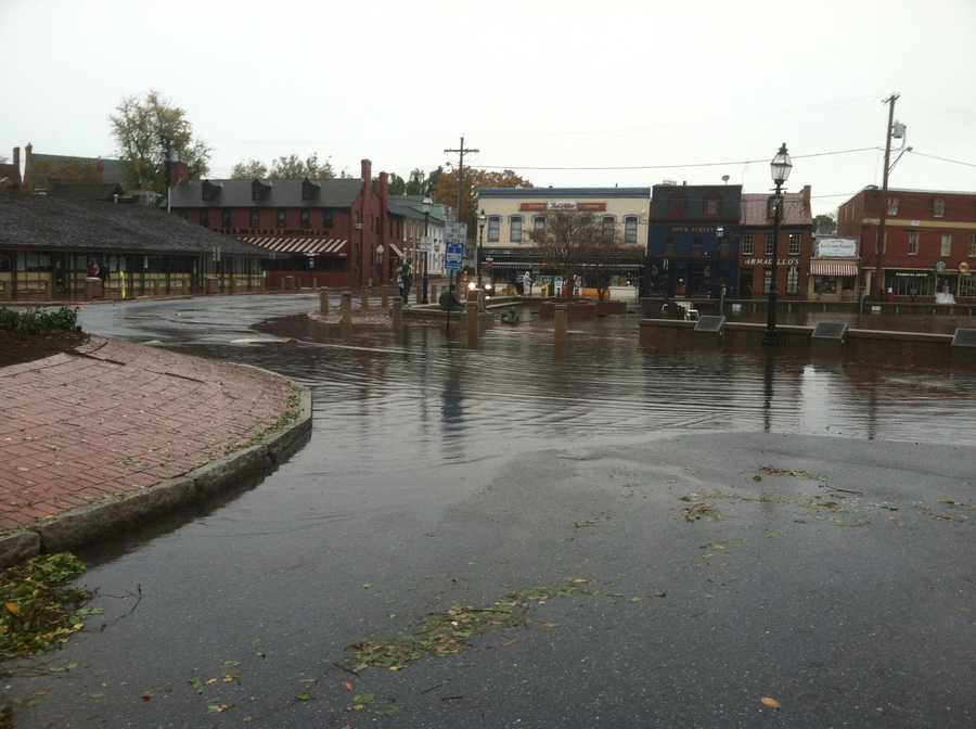 The day after Sandy -- flooding in Annapolis.