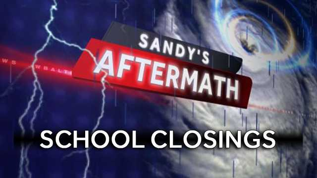 Sandy's Aftermath - school closures