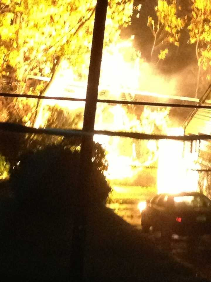 A transformer catches fires on Ridgefield Road in Lutherville.