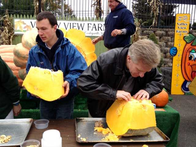 Spectators joked that someone should be making pumpkin pie.
