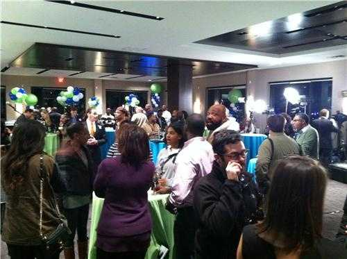 Election night party at National Harbor