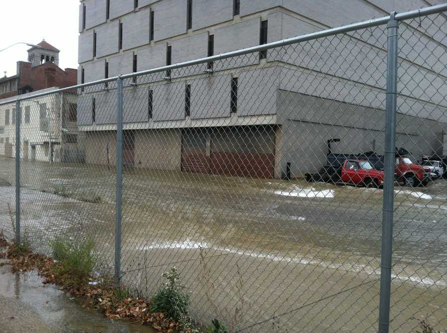 Department of Public Works officials said water is flowing everywhere, so they're telling drivers to avoid streets in that area as best as possible.