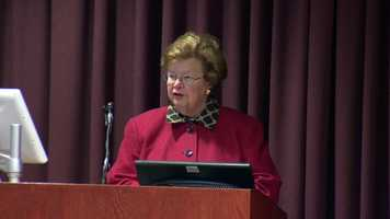 U.S. Sen. Barbara Mikulski, D-Maryland awarded the Bronze Star long overdue to two Maryland veterans, one of whom served in World War II and another served in Vietnam.