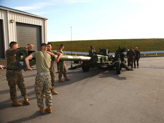 The exercise is part of Artillery Relocation Training Program on Thursday.