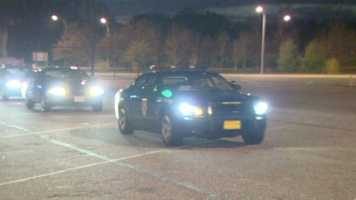 A convoy of Maryland state troopers left the state Saturday to help New Jersey residents impacted by Superstorm Sandy.