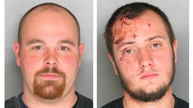 Authorities said 20-year-old Brandon Shane Quinet (pictured right) and 26-year-old Allen Warren Lull Jr. (pictured left) were arrested and charged with first-degree assault and second-degree assault. Lull was also charged with possession of a dangerous weapon with intent to injure. Quinet was also charged with the possession of a dangerous weapon-concealed.