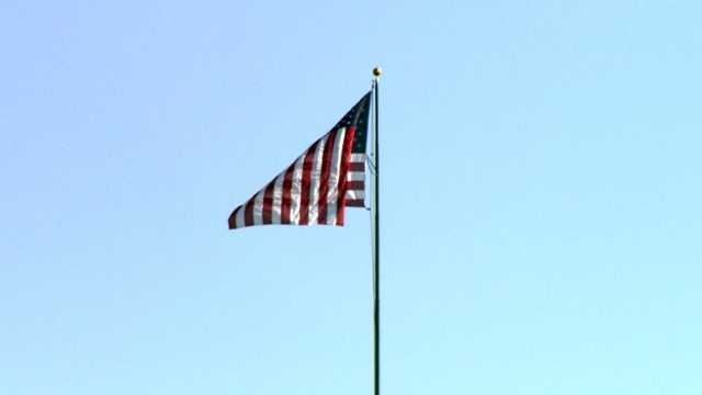 The flag was first raised when the refinery opened in 1922.