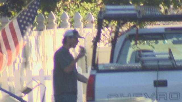 The I-Team captures video of Mark Cherwaty by his truck. He wouldn't talk.