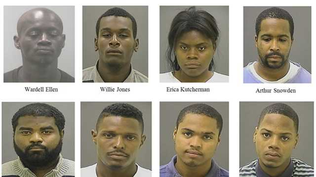 Baltimore and federal authorities arrest almost a dozen people on drug charges, calling the arrests the first results of a months-long undercover criminal investigation.