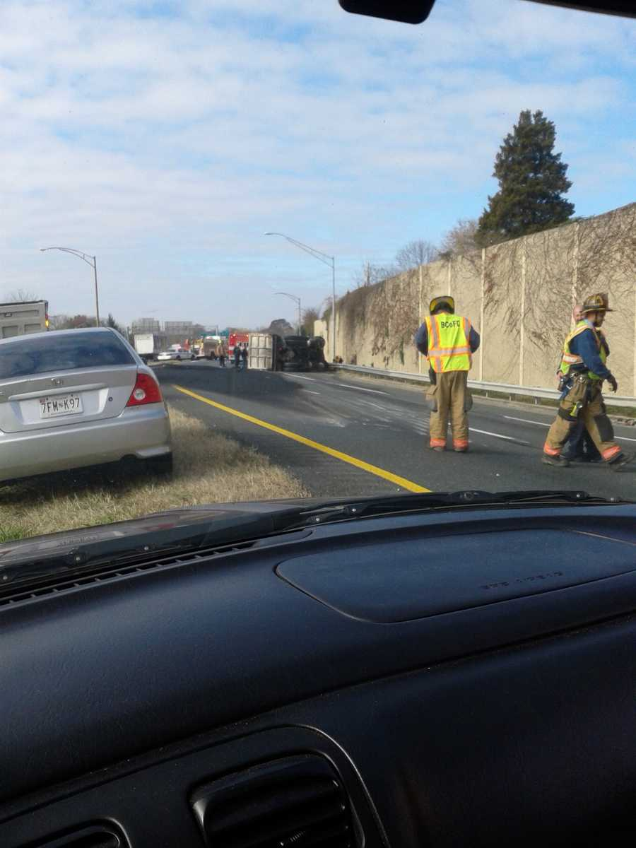 State police were called shortly after 10:40 a.m. to the southbound ramp of I-83 where it joins the Beltway.