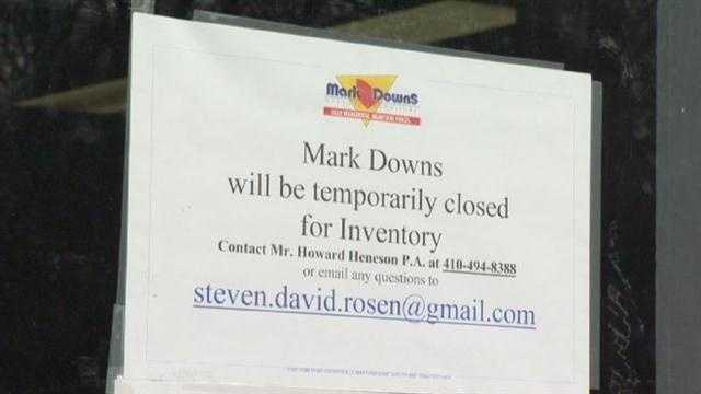 Mark Downs closes down