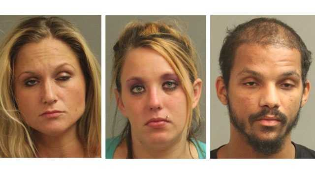 Police said 31-year-old Christina Maria Pfisterer (left), of Brooklyn Park, and 22-year-old Corinne Michelle Bachman (middle), of Pasadena, were arrested and charged. Authorities said 27-year-old Darrell J. Wilson (right), of Brooklyn Park, was arrested and charged in a separate drug-related incident.