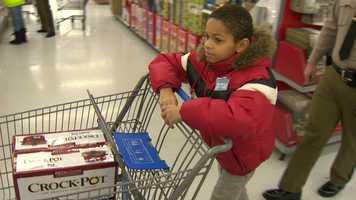 """I don't just want to get a lot of stuff for me, I want to get stuff for my parents,"" said Zachary Rogers."