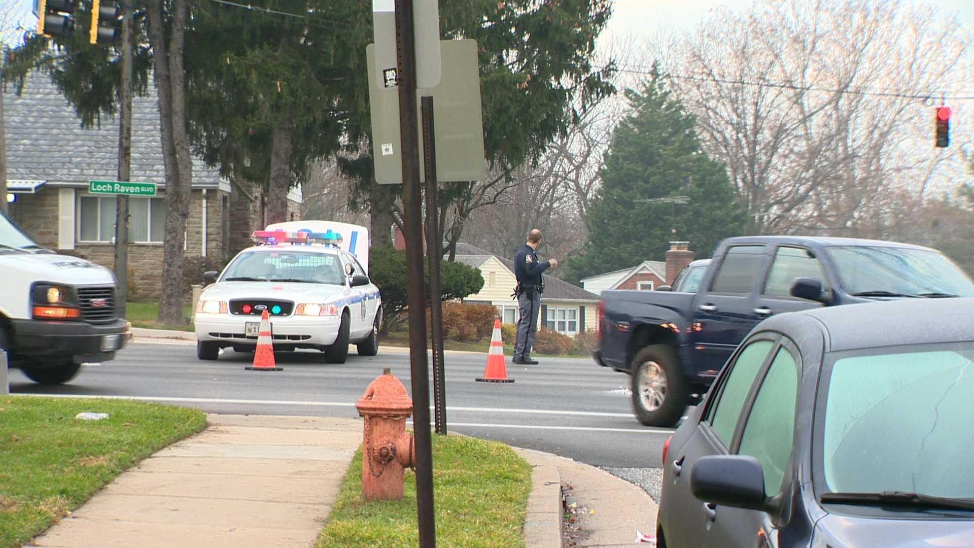 pedestrian accident scene